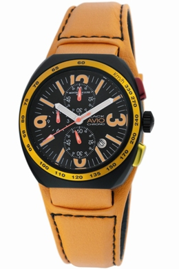 Avio Milano Mens BK5502 Black Collection Chronograph Watch